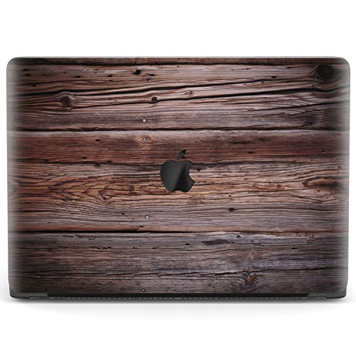 Mertak Hard Case Compatible with MacBook Pro 16 Air 13 inch Mac 15 Retina 12 11 2020 2019 2018 2017 Touch Bar Shell Plastic Polished Grain Texture Women Cover Laptop Wood Clear Oak Dark Pattern Design