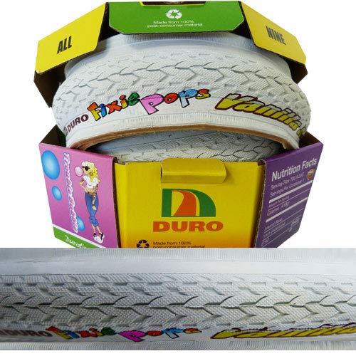 Duro Fixie Pops Fahrrad Reifen // 24-622 (28´´) 700x24C, Ausführung:weiß, Faltreifen