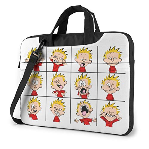 Calvin and Hobbes1 Classic Laptop Bag-Messenger Shoulder Bag Computer Bag Compatible with 15.6 Inch MacBook Pro MacBook Air Lenovo Acer Asus Dell Hp Samsung