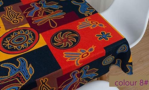 EDCV Home tafelkleed 45 * 145 cm/stuk stof brons Nigeria bedrukt katoen voor DIY tafelkleed en achtergrond decoratie, TJ6071-8,50X70cm klein stuk