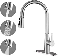CORYSEL Kitchen Faucet with Pull Down Sprayer, Unique 3 Water Effect High Arc Brushed..