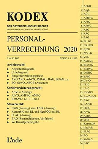 KODEX Personalverrechnung 2020 (Kodex des Österreichischen Rechts)
