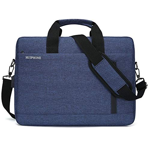 15.6-inch laptoptas Notebook Tablet Bag heren grote capaciteit Business one-Shoulder Aktetas, 40 × 30 × 10cm, USB upgrade donkerblauw