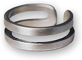 Anelli da uomo in acciaio al titanio da donna Anelli retrò Anelli a doppio anello Anelli di misura regolabile Anelli in ar...