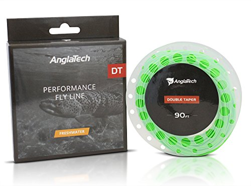 Anglatech Double Taper Floating Fly Fishing Line DT 6 WT Welded Loops Green