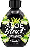 Tanning Paradise Aloe Black Tanning Lotion | Anti-Aging, Anti-Orange, Anti-Wrinkle Matte Black Bronzer Tanning Lotion | Tattoo & Color Fade Protection | Aloe Vera Cashmere Blend Tanning Lotion 13.5 oz