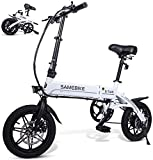 SAMEBIKE 14 inch Folding Electric Bike 250W 36V 7.5AH Lithium Battery Ultra-Light Electric Bicycle for Adults