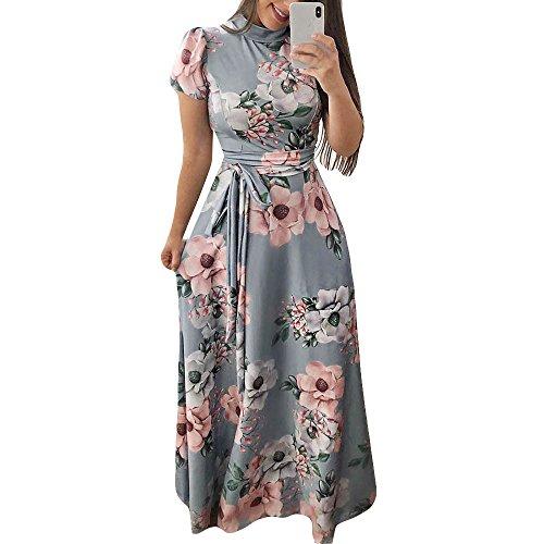 Elegante kleider Damen Kleid Cocktailkleider Ronamick Womens Short Sleeve Flower Print Minikleid...