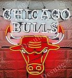 Queen Sense 20'x20' Chica go Bulls Neon Sign Light HD Vivid Printing Tech Handmade Beer Pub Bar Decor Lamp VT11