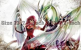 Yu-gi-oh Stardust Dragon PLAYMAT, Yu-gi-oh Stardust Dragon Play mat | Custom Play mat | Size 23-7/8-Inch x 13-1/2-Inch