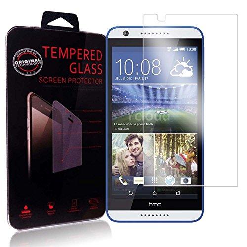 Ycloud Panzerglas Folie Schutzfolie Bildschirmschutzfolie für HTC Desire 820 screen protector mit Festigkeitgrad 9H, 0,26mm Ultra-Dünn, Abger&ete Kanten