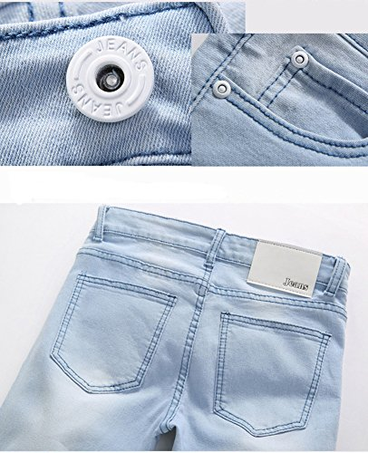 Sarriben Mens Distressed Stretch Denim Casual Skinny Jeans