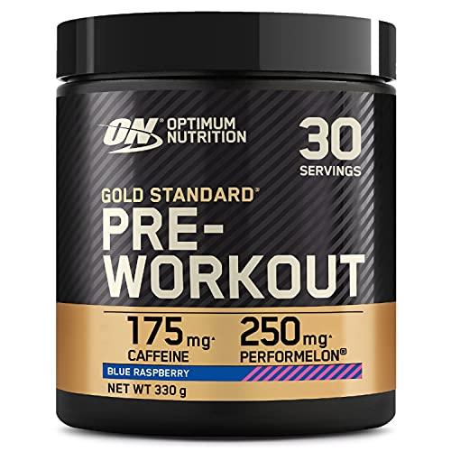 Optimum Nutrition Gold Standard Pre Workout, Energy Drink con Creatina Monoidrata, Beta Alanina, Caffeina e Vitamina B Complesso, Mirtillo Blue, 30 Porzioni, 330g, il Packaging Potrebbe Variare