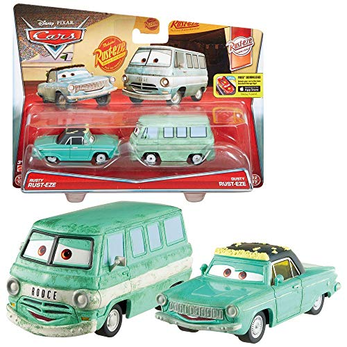 Mattel Doppelpack Modelle Auswahl | Disney Cars | Cast 1:55 Fahrzeuge Auto, Typ:Rusty & Dusty Rust-Eze