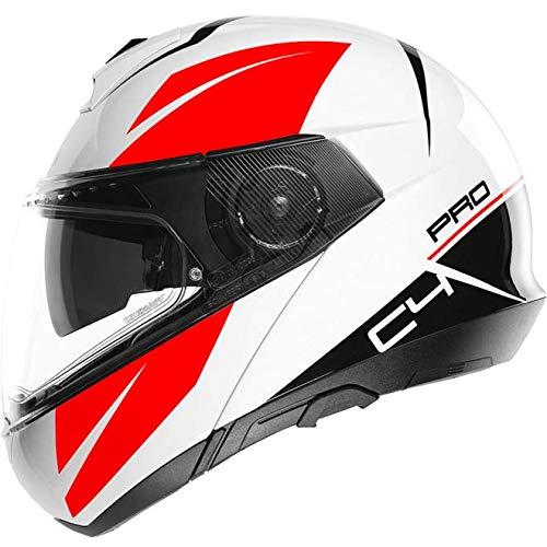 Schuberth 4549258360 C4 Pro - Casco per Moto Unisex - Adulto, Bianco (Merak White), 59 (L), 1 Pezzo