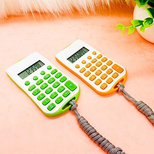 Calculadora colorida Tienda mano portátil Pocket School Office Cuerda colgante Electronic Student Mini Practical