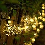 Cadena de luz de cuento de hadas LED Copo de nieve solar Luces de Navidad impermeables para decoración del hogar Cadena de luces Batería 10m100 leds