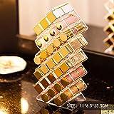 28 Rejillas Caja de Almacenamiento de lápiz Labial Maquillaje Organizador de cosméticos Soporte de exhibición Esmalte de Labios Soporte Transparente Organizar Maquillaje, Soporte de lápiz Labial