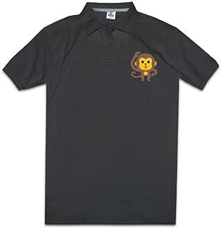 MZONE Men's Cute Monkey Emoji Cool Polo T-shirt