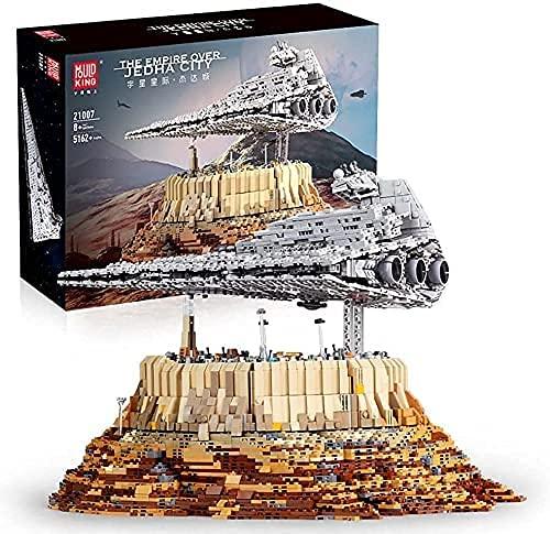 MMOC Technik Sternenzerstörer Modell Bausatz, Mould King 13134, 7588 Klemmbausteine UCS Super Star Destroyer MOC Bauset Kompatibel mit Lego (Mould King 21007)