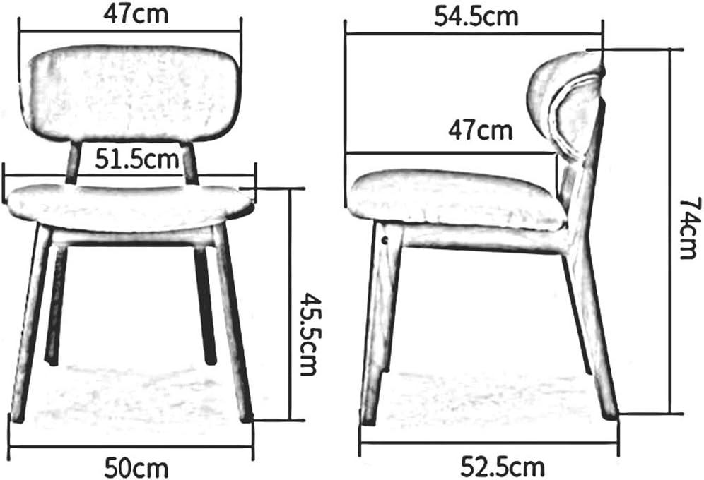 DALL Chaise De Salle À Manger Coussin Doux Chaise De Table Dossier Cadre en Bois Chaise De Maquillage Restaurant Chaise De Réception Assemblée 50X52.5X74cm (Color : T3) T3