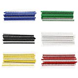 Aussel 6 colores 2.54 mm pin divisible pin PCB Junta sola fila 40 pin conector de encabezado masculino para Arduino escudo paquete de 60 (PIN-6C-60PCS)