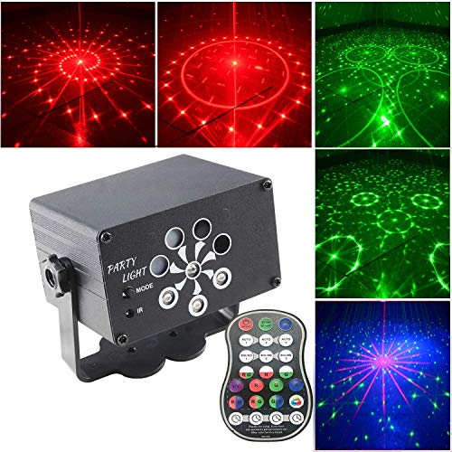 N \ A Party Lights Disco Lights, LED Strobe Lamp Projector Light with Remote Control, 3 Sound Activated & Timing, LED Up Lights for Wedding, Event, Party