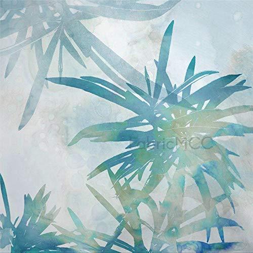 Juego de adhesivos decorativos para azulejos, diseño floral de hojas de flores, planta perenne de 10,4 x 10,4 cm, vinilo para decoración del hogar