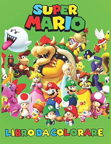Super Mario Libro Da Colorare: Cool Coloring Pages SUPER MARIO per ragazzi e ragazze - nuove e ultime pagine di alta qualità e premium.