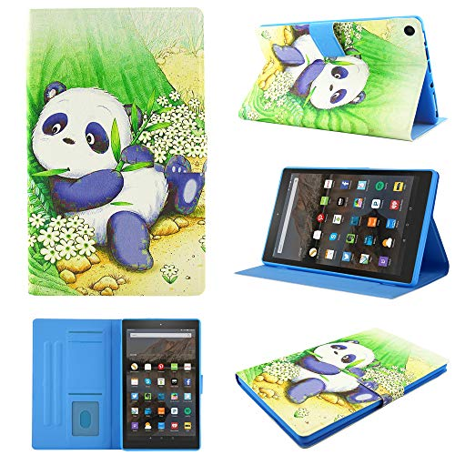 Fire HD 10 Case,Chgdss Cartoon Cute Case, Smart Cover Flip Leather Case with Stand Feature Cover, for Amazon Kindle Fire HD 10.1' Tablet(7th Gen 2017 and 9th Gen 2019 Release), Cute Panda