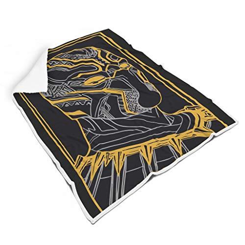 XJJ88 Manta Panter Hero Larga Viva Universal Cómodo Patrón Grande Mantas Wrap Robe – Película Hero se adapta a la vida diaria para adultos/mujeres/hombres regalo blanco 60x80 pulgadas