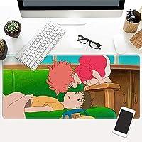 超大型ゲームマウスパッド女の子アニメ漫画防水縫いかわいいマウスパッド布キーボードノンスリップテーブルマット-t_300x780mm