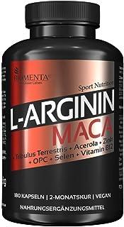 BIOMENTA L-Arginin + Maca – Premiumqualität – 180 vegane Arginin Maca Kapseln..