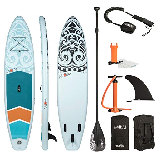 MOAI aufblasbares SUP: Stand Up Paddle Board 11' (335 x 75 x 15cm) - Fusionstechnologie