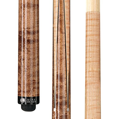 Lucasi Custom Birds-Eye Maple Sneaky Pete Pool Cue with Upgraded Shaft, 19-Ounce