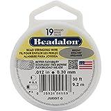 Beadalon 19-Strand Bead Stringing Wire 0.012-Inch Bright 30-Feet by Beadalon