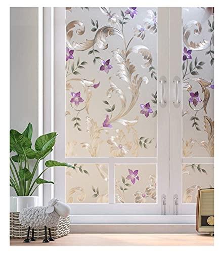 JSJJRGB Fensteraufkleber Dekorativer Fenster Film, Privatsphäre Türfilm, statisches Klebglas Selbstklebende Folie, Buntglasfenster-Aufkleber (Color : 45x200cm)