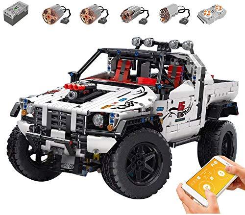 KEAYO Mould King 18005 - Maqueta de camioneta todoterreno con motor, bloques de sujeción, compatible con la técnica Lego