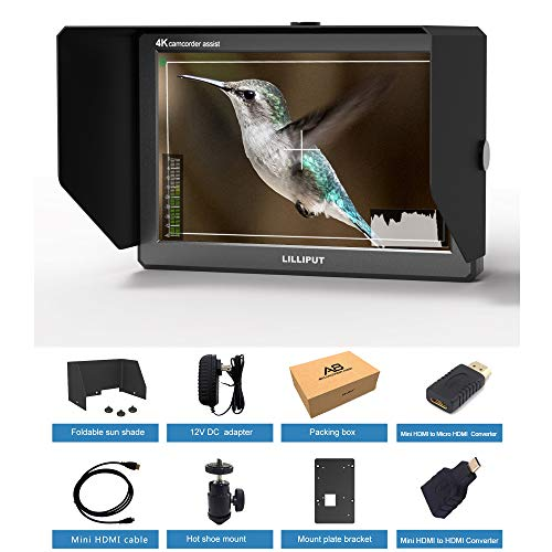 Lilliput A8 8.9 Inch Utra Slim IPS Full HD 1920x1200 4K HDMI 3D-LUT On-Camera Video Field Monitor for DSLR Camera Video