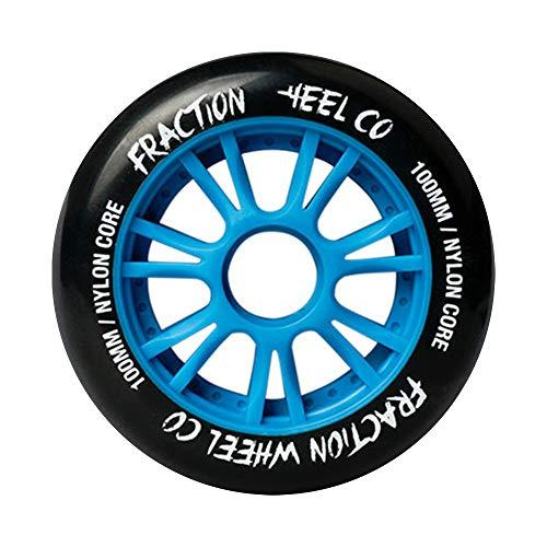 TGHY 8 Piezas Rueda de Patín en Línea de 100mm Núcleo de Nailon Rueda de Repuesto de PU de Alto Rebote 85A para Patines para Adultos,Azul