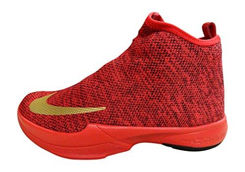 Nike Zoom Kobe Icon, Zapatillas de Baloncesto Hombre, Rojo/Dorado/Negro (University Red/Mtllc Gold-Blk), 43