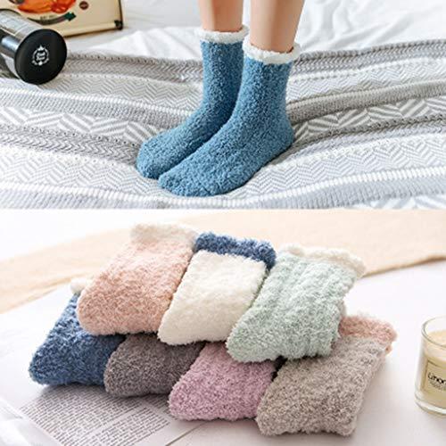 Moent Calcetines de Mujer 7 Pares de Calcetines de algodón de Patchwork para Mujer Calcetines de Invierno para Mujer Lindos