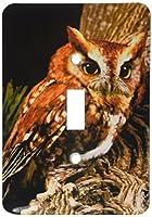 3Dローズ 鳥 ‐ フクロウ - 照明スイッチカバー - シングル トグルスイッチ - lsp_1149_1 (並行輸入)