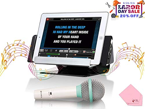 CAROL Portable Karaoke System with Dynamic Microphone & Speaker Stand (iAS-102) for Smartphone & Tablet