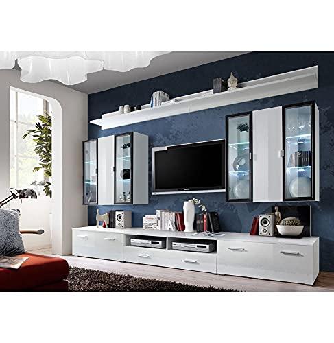 Ensemble TV - 4 éléments - Blanc brillant