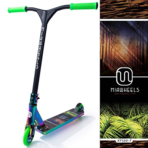 Purchase MIAWHEELS XT-120 (Miami - Green) Stunt Scooter- NEO-Chrome- 120MM Wheels- Made for Tricks- ...