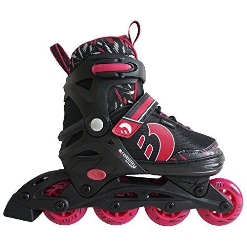 Best Sporting Inline Skates, Größe verstellbar, ABEC 7 Carbon, Inliner Kinder und Jugendliche, Farbe pink-schwarz, Größe 38-41