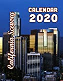 California Scenery Calendar 2020: From Mountains to Beaches to End of Route 66 -  14 Month Desk Calendar