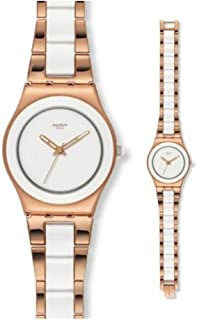 Swatch Women's YLG121G Rose Pearl Stainless Steel Watch