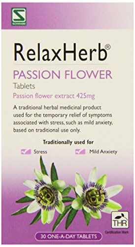 Schwabe Pharma RelaxHerb Passion Flower Extract 425g- Pack of 30 Tablets